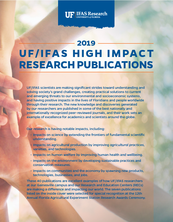 Image of 2019 High Impact Publications cover